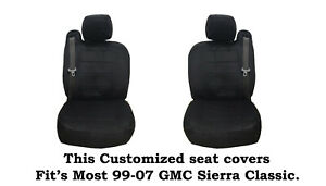 Black Scottsdale Custom Seat Covers Fit s 1999 2006 Gmc Sierra Truck s