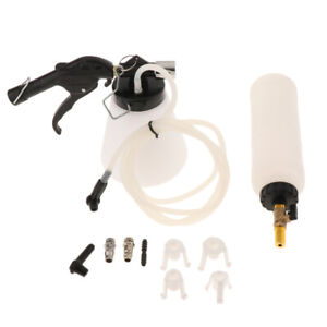 Van Bleeding Fluid Change Kit Air Pneumatic Garage Vacuum Brake Bleeder