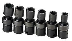Sk Tools 6 Pc Swivel Impact Socket Set 32352 1 4 Metric 6pt Stnd