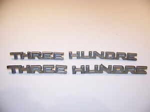1968 Chrysler 300 Three Hundred Emblems Oem 2841731 2841740 4 Emblems