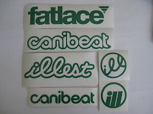 6 Sticker Pack1 Green Vinyl Decal Fatlace Illest Canibeat Jdm Drift Race Car Vip