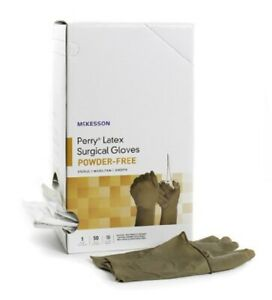 Perry Surgical Glove Sterile Brown Powder Free Latex Smooth Size 7 5 Case Of 400