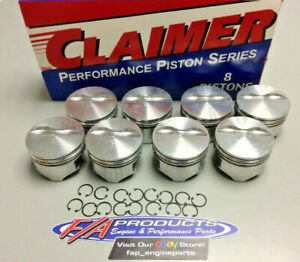 Small Block Chevy 383 Stroker 5 7 Rod Flat Top Piston Set Silvolite 3426h 020