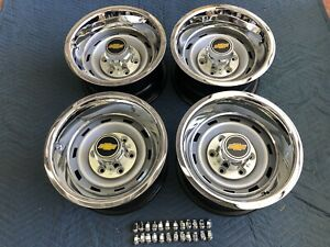 1955 70 Truck 2wd 6 Lug 15x8 Original Truck Rallys new Caps New Rings Lugs