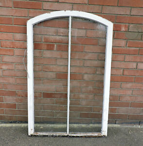 Large Antique Arched Wood Window Sash Architectural Salvage 53 75 X 34 5