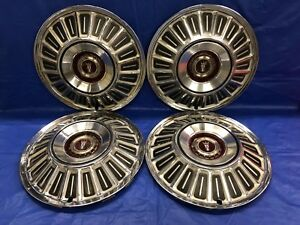 Vintage Set Of 4 1967 72 Ford 15 Hubcaps Galaxie Ltd F100 Pick Up Truck Gc