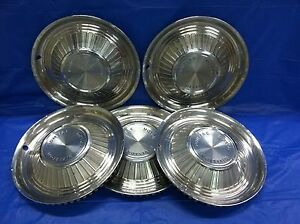 Set Of 4 Vintage 1959 Pontiac 14 Hubcaps Bonneville Chief Good Condition