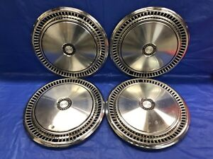 Vintage Set Of 4 1980 89 Plymouth Dodge Chrysler 15 Hubcaps Trail Duster