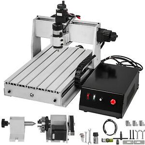 4 Axis Cnc 3040 Engraving Milling Machine Pvc 1605 Ball Screw Chrome Plate Shaft
