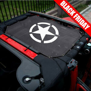Bikini Soft Top Mesh Cover Sun Shade Fit 2007 2017 Jeep Wrangler Jk Uv Protect