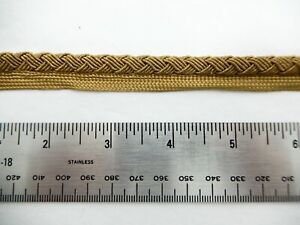 Vintage European Metallic Gold Woven Cord W Lip 2 Pcs 141 T 137