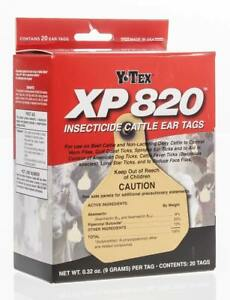 Xp 820 Insecticide Cattle Ear Tag 20 pk