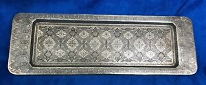 Antique 84 Silver Tray Islamic Middles East Chased Signed