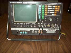 Marconi 2955 Comm Test Set E w 2957a Radio Test System sold As Is