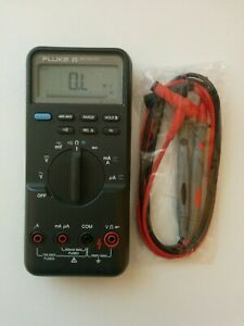 Fluke 85 Digital Handheld Multimeter Dmm New Test Lead Probes Nice