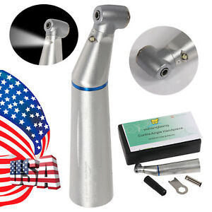 Inner Water Spray Dental Slow Low Speed Fiber Led Contra Angle Handpiece Yabb
