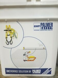 Palmer Safety Roof Bucket Safety Kit Anchor Harness 50 Rope