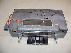 1965 Dodge Dart Chrysler Solid State Am Radio Oem Plymouth Valiant