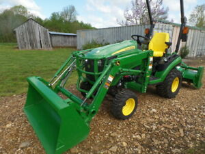 John Deere 1025r 2018 4wd W Loader And Tiller 12hrs And Warranty Amazing