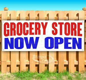 Grocery Store Now Open Advertising Vinyl Banner Flag Sign Many Sizes