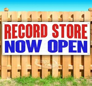 Record Store Now Open Advertising Vinyl Banner Flag Sign Many Sizes