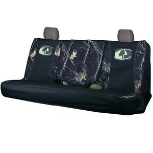 Mossy Oak Country Black Camo Bench Seat Cover Universal Full Size Camouflage