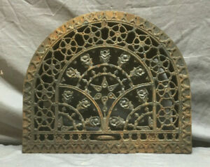 Antique Cast Iron Arched Decorative Heat Grate Wall Register 13x15 147 19l