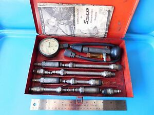 Vintage Snap On Tools Compression Gauge From The 50 S In Metal Box