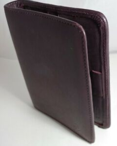 Franklin Covey Compact 1 Rings Burgundy Genuine Leather Open Planner binder