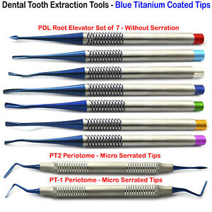 Luxating Dental Pdl Elevators Root Tooth Extraction Periotome Extracting Kit X9