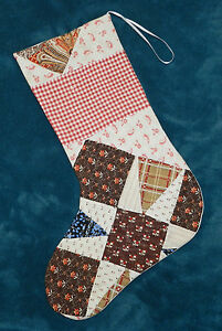 Primitive Antique Vintage Cutter Quilt Christmas Stocking Wow 51