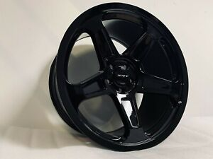 20 Staggered Srt Style Gloss Black Rims Wheels Fits Hellcat 2015 2018 5x115