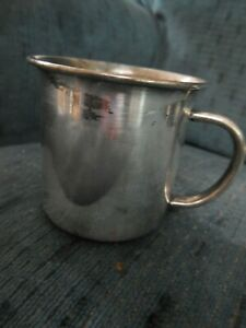 Antique Silver Plate Baby Toddler Child Handled Cup Mug E P Towle 4138 Usa