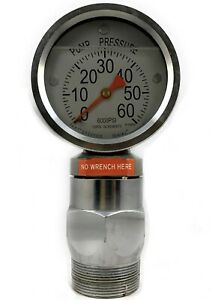 6000psi Pressure Gauge For Standpipes Mud Pumps Drilling Rigs 2 1 4 Type F