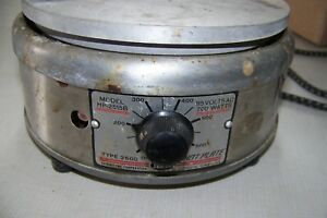 Thermolyne Type 2500 Model Hp 2515b Hotplate 7 Dis Top Working Cheap Sale