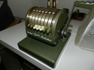 Vintage Paymaster Series X 550 Check Writer Stamping Machine Locked Protection
