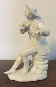 Antique 18th C French Porcelain White Blanc De Chine Figure Mennecy St Cloud