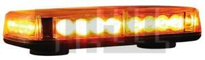 Led Bar Light 12 Vdc Amber Strobe Light Magnetic Mount Random Flash Patterns