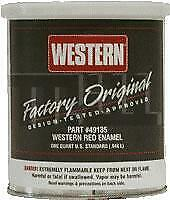 Western Red Plow Paint 1 Quart Oem 49135