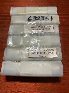Lot Of 6 Morse Taper Sleeve Arbor With Tangh Mt2 1