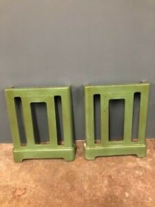 Vintage Cast Iron Industrial Machine Legs