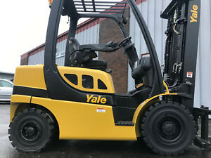 2010 Yale Pneumatic 5000 Lb Diesel Forkliftwith Side Shift And Fork Positioner