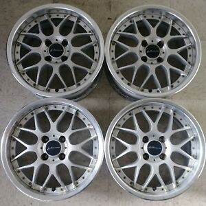 4 15 Ssr Vienna Gluck 4x100 Jdm Wheels Rims Vip Mesh 3pc Rare Authentic Split