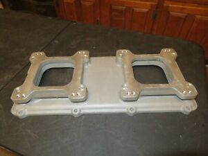 New Edelbrock 7078 Bbc Chevy 454 Victor Tunnel Ram Intake Manifold Top 2x4 Cheap