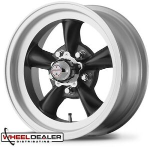 15 Staggered Black Ar Vn105 Torque Thrust D Wheels Rims Ford Mustang 1965 1973