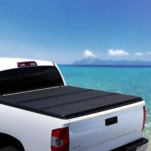 For 07 19 Toyota Tundra Crew Max Cab 5 5ft Short Bed Tri fold Tonneau Cover