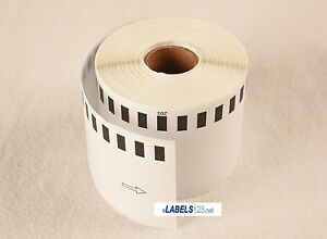 44 Rolls Brother Ql Dk 2205 Compatible Continuous Adhesive Labels White Blank