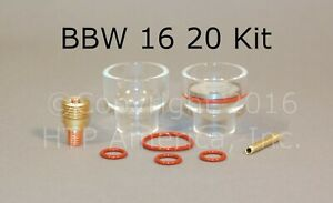Bbw 16 Pyrex Cup Kit For 9 And 20 Series Tig Torch Made In The Usa