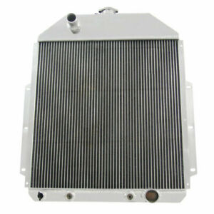 4 Row Upgraded Radiator For 1942 1952 Ford F1 F2 F3 Pickup Truck Chevy V8 49 48