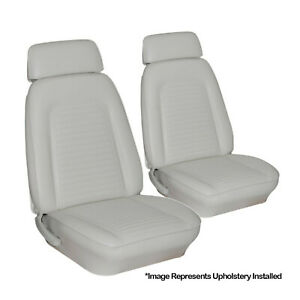 69 Camaro Front Bucket Seat Upholstery Covers Standard Bright White Tmi Usa